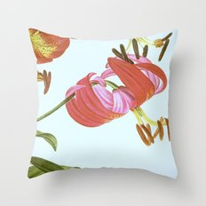 I. Vintage Flowers Botanical Print by Pierre-Joseph Redouté - Lilies Throw Pillow