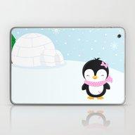 Cute Penguin Girl  Laptop & iPad Skin