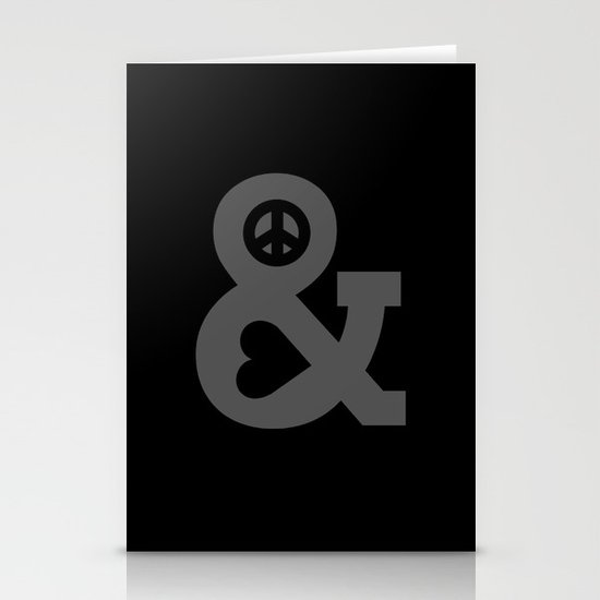Peace and Love Stationery Card