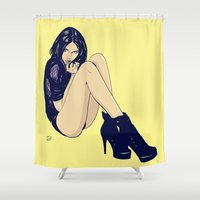 Legs and shoes Shower Curtain