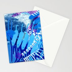 Wave blue Stationery Cards