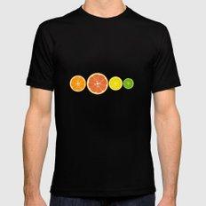 oranges & lemons, grapefruit & lime Black SMALL Mens Fitted Tee