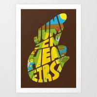 Jump In Head First Art Print