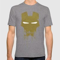 Iron Dirty Man Mens Fitted Tee Tri-Grey SMALL
