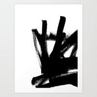 Abstract Black & White 1 Art Print