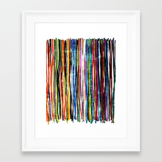 fancy stripes 1 Framed Art Print