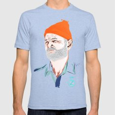 Doc Zissou Mens Fitted Tee Tri-Blue SMALL