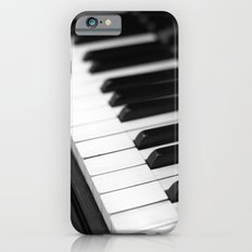 piano keys  black and white Slim Case iPhone 6s