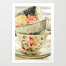 China Cups Art Print