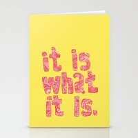 What It Is Yellow Stationery Cards