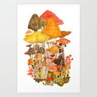 Art Print featuring The Mushroom Gatherers by Abigail Halpin