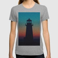 Deep Twilight Womens Fitted Tee Athletic Grey SMALL