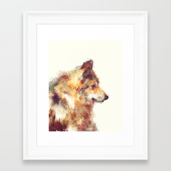 Wolf // True Framed Art Print