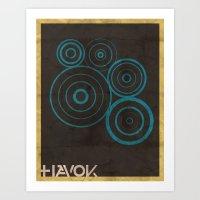 Minimalist Havok Art Print