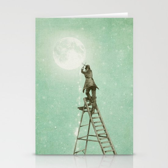 Waning Moon Stationery Card