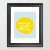You Are My Sunshine - Ch… Framed Art Print