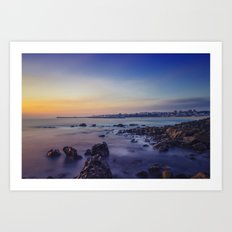 Sunset by the Sea Art Print