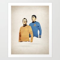 Polygon Heroes - Star Trek O.G. Art Print