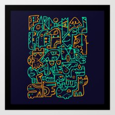 Tribal Animals Art Print