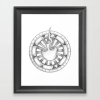 Flame Circle Framed Art Print