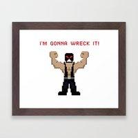 Bane's Gonna Wreck It Framed Art Print