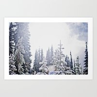 Fresh Mountain Snow Art Print
