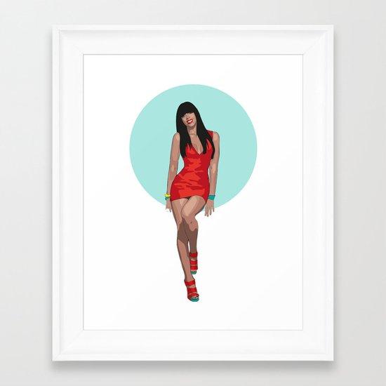 KELLY ROWLAND Framed Art Print