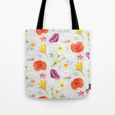 Poppies And Friends Tote Bag