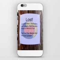 Karate T Shirt Lost iPhone & iPod Skin