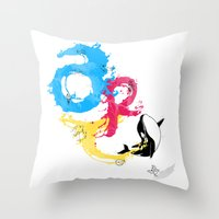 The ART Of Swimming Throw Pillow
