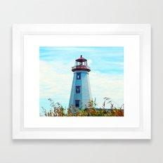 North Cape Lighthouse Framed Art Print