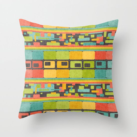 Retro Overload Throw Pillow