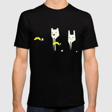 Pulp banana Mens Fitted Tee Black SMALL