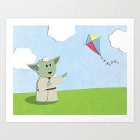 SW Kids - Yoda Kite Art Print