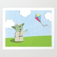 SW Kids - Yoda Kite Art Print