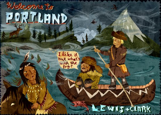 Postcard from Lewis + Clark Art Print
