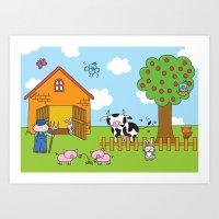 Farm Art Print