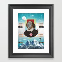 Shakespeare In Disguise Framed Art Print