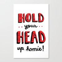 Head Up Canvas Print