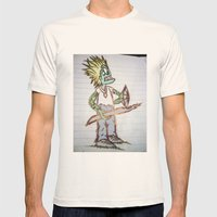 frog man Mens Fitted Tee Natural SMALL