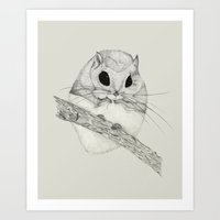 Fuzzball-gray Art Print