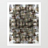 The visual equivalent of using windows as doorways, or vice versa? 3/4 Art Print
