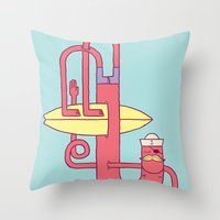 Go Surfing Throw Pillow