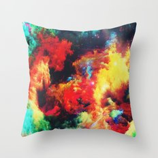 Colorful Clouds & Stars Throw Pillow