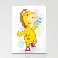 Party Like Giraffe Weari… Stationery Cards