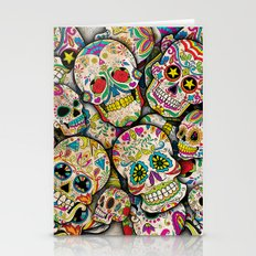 Sugar Skull Collage Stationery Cards