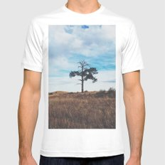 Lonely Tree Mens Fitted Tee White SMALL