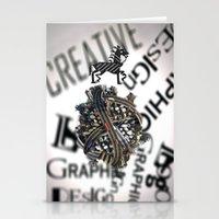 pixel Stationery Cards featuring Pixel by VERTIgO