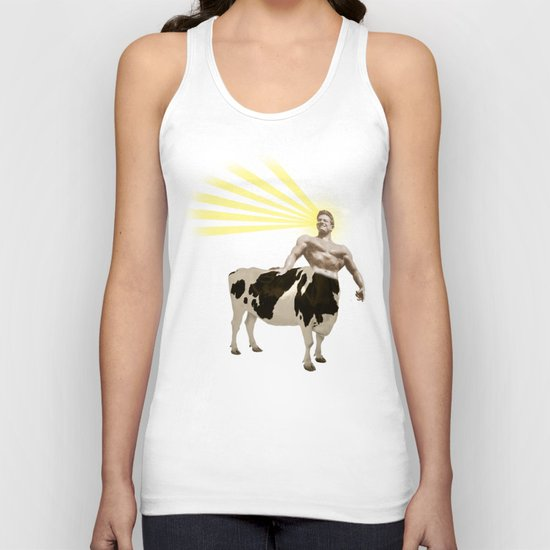 The real muscular cow-boy  Unisex Tank Top