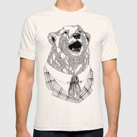Mr  Bear Mens Fitted Tee Natural SMALL